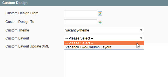 Custom CMS Dropdown