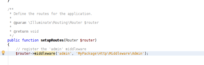 screenshot: code sample of offending error