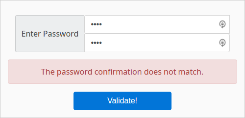 Password Confirmation Validation With Vue and Vee-Validate | Zaclee net