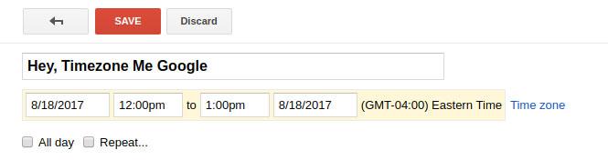 Add Timezones to Google Calendar Links